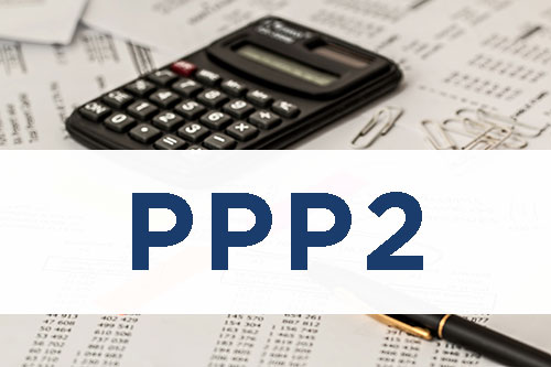 image of papers with calculator and pen with text PPP2