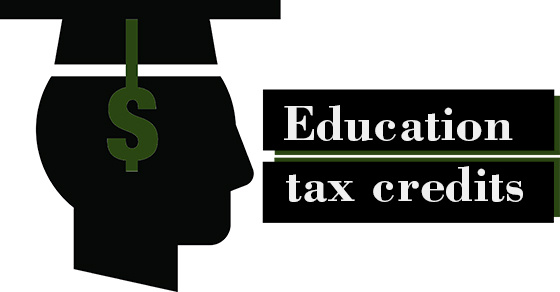 image of graduation cap with text education tax credit