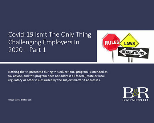 Webinar Recording: EBP Part 1 - COVID-19 isn't the only thing challenging employers in 2020