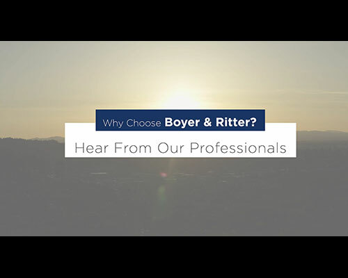Why Choose Boyer & Ritter? Watch the video to learn more.